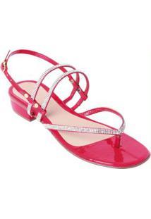 Sandália Vermelha Com Brilhos Termocolantes