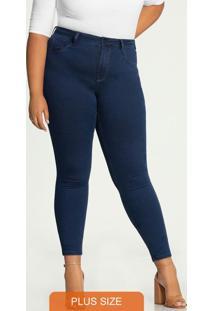 Calça Skinny Plus Size Fit For Me Azul