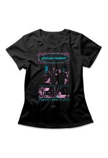 Camiseta Feminina Twenty One Pilots Shy Away Preto