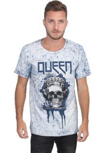 Camiseta Royal Brand Queen Branco-Azul