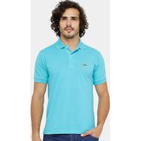 1e18b2bb8da Camisa Polo Lacoste Piquet Original Fit Masculina - Masculino-Azul Turquesa