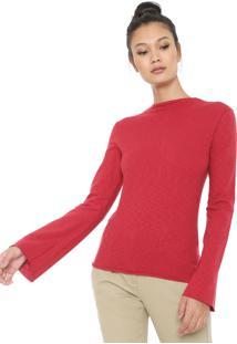Blusa Osklen Rustic Fendas Vermelha