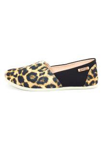 Alpargata Quality Shoes 001 Onça/Preto