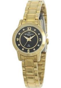 Relógio Feminino Backer Analógico 10219145F - Unissex-Dourado