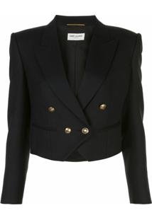 Saint Laurent Blazer Cropped - Preto