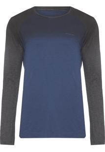 Camiseta Masculina Raglan Degradê - Azul