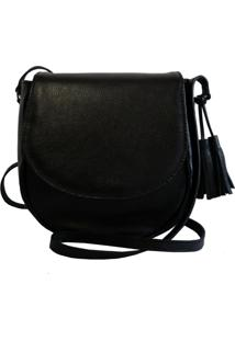 Bolsa Line Store Leather Saddle Couro Preto.
