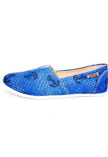 Alpargata Quality Shoes Feminina 001 Jeans Âncora Azul 34