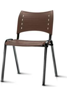 Cadeira Iso Assento Marrom Base Preta - 54029 Sun House