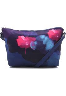 Bolsa Desigual Estampada Azul-Marinho