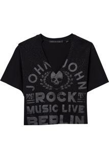 Camiseta John John Music Live Feminina (Preto, P)