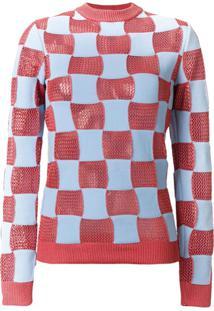 Marni Suéter Xadrez - Azul