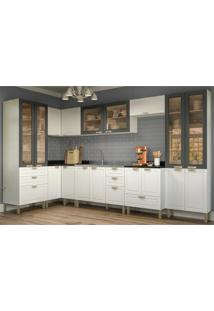 Cozinha Completa 8 Peã§As Americana Multimã³Veis 5649 Branco/Grafite - Branco/Incolor - Dafiti