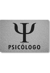 Tapete Capacho Psicologo - Prata