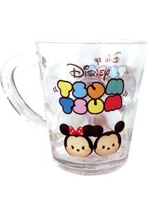 Caneca Minas De Presentes Mickey & Minnie Tsum Tsum Transparente