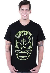 Camiseta Hardivision Lucha Libre Manga Curta - Masculino-Preto