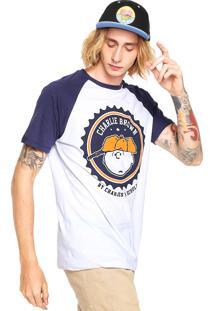 Camiseta Snoopy Schulz Branca/Azul