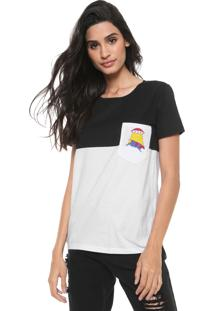 Camiseta Redley Via Láctea Preta/Branca
