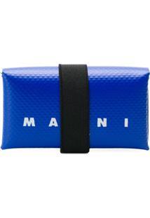 Marni Carteira Com Logo - Azul