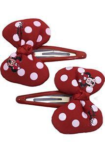 Par De Presilhas Para Cabelo Laço Minnie - Disney