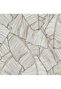 Papel De Parede Stickdecor Adesivo Folhas Bananeira Contorno 100Cm L X 300Cm A - Bege - Dafiti