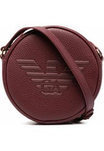 Emporio Armani Bolsa Transversal Com Logo Gravado - Vermelho