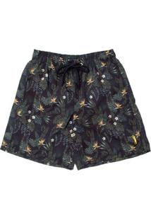 Shorts Aleatory Estampado Plus Masculino - Masculino-Marinho