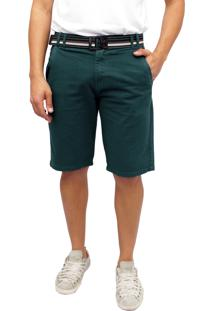 Bermuda Sarja Colors Esporte Fino Verde
