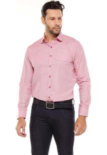 Camisa Manga Longa Remo Fenut Mescla Rosa