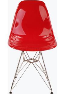 Cadeira Eames Dsr - Fibra De Vidro Vermelho