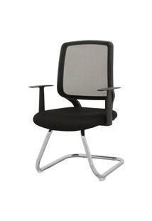 Cadeira Avila Fixa Preta 93 Cm (Alt) - 43438 Preto
