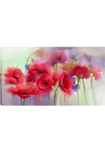 Quadro Flores Cereja Vermelho 55X100Cm