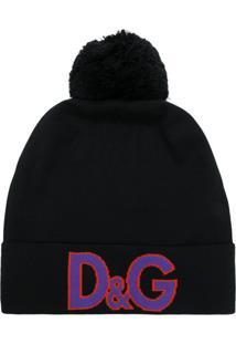 Dolce & Gabbana Gorro De Lã Com Tricô - Preto