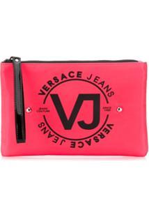 Versace Jeans Necessaire Com Tachas E Logo - Rosa