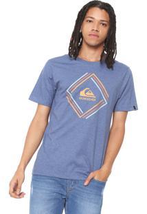 Camiseta Quiksilver Solid Edge Azul