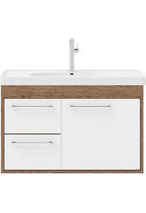 Gabinete De Banheiro Cerocha Com Lavatório 63Cm Munique E Branco Prócion