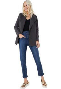 Calça Jeans Slim Com Cinto