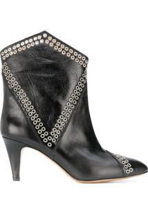 Isabel Marant Lahia Eyelets Ankle Boots - Preto
