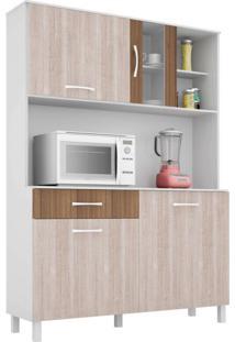 Cozinha Compacta Viena 4 Pt 1 Gv Branco E Elmo 120Cm