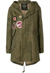 Mr & Mrs Italy Jaqueta Parka Com Patch - Green