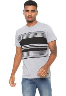Camiseta Oakley Striped Box Cinza