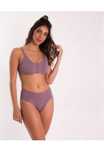 Calcinha Cintura Alta Blush Eg - Feminino-Violeta