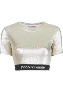 Paco Rabanne Blusa De Lurex Com Stretch - Dourado