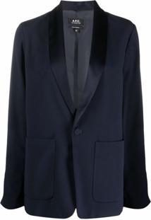 A.P.C. Blazer Com Lapelas E Abotoamento Simples - Azul
