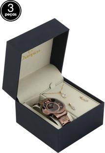 fabc32016b0 Dafiti. Relógio Kit Feminino Champion Vermelho Dourado ...