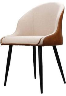Cadeira Alexia Courino Marrom Base Preto 82Cm - 62861 - Sun House