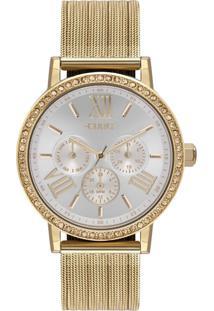 Relógio Feminino Euro Multiglow Party Eu6P29Ahl/4B 42Mm Aço Dourado - Tricae