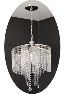 Lustre Pendente De Cristal Acrílico 42X75 Lina Design Ac33 - Kanui