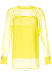 Emilio Pucci Bright Yellow Translucid Blouse - Amarelo