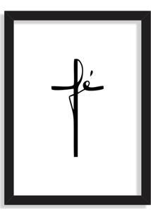 Quadro Decorativo Fé Preto - Grande